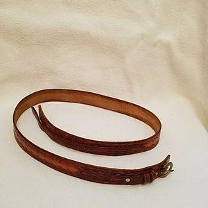 Accessories - Leather with Sun Burst Detail Belt